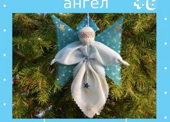 Мастерим «Рождественского ангела»...
